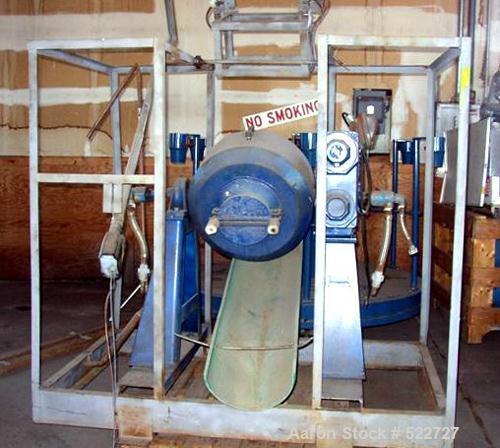 USED: Paul O Abbe Roto-Cone vacuum dryer, model RCVD-18. 1.7 cubicfoot total, 1.1 cubic foot working capacity. Internal 240 ...