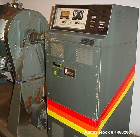 Used- Paul O. Abbe Rota-Cone Vacuum Dryer 24RCVD.  2.5 Cubic feet mixing capacity, 5 rpm, 3/4 hp drive.  304 Stainless steel...