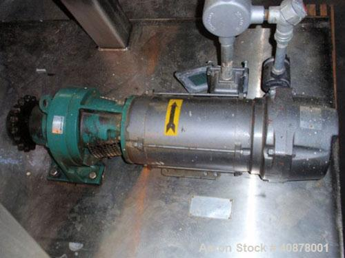 Used- Paul O Abbe Rota-Cone Vacuum Dryer, Model 36RCD. 8.8 cubic feet working capacity, 13.5 total, 316 stainless steel. Int...