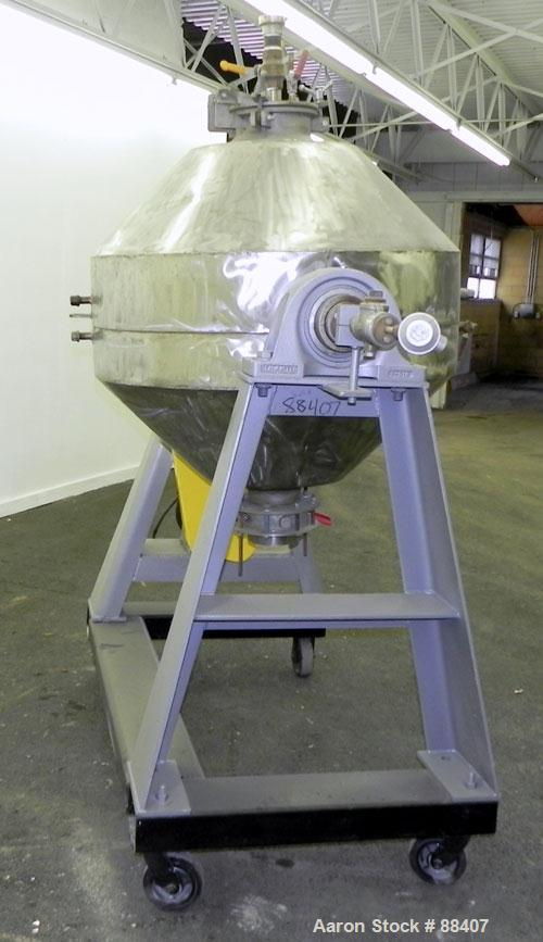 Used- Paul O Abbe Rota-Cone Vacuum Dryer, Model 36RCD. 8.1 Cubic feet working capacity, 13.5 total, 316 stainless steel. Int...