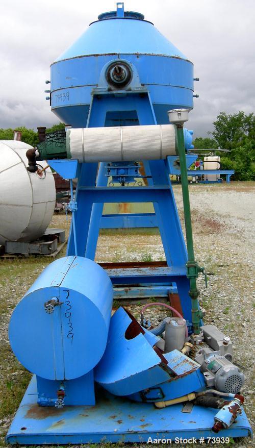 Used- Paul O Abbe Rota Cone Vacuum Dryer, Model 48RCDV
