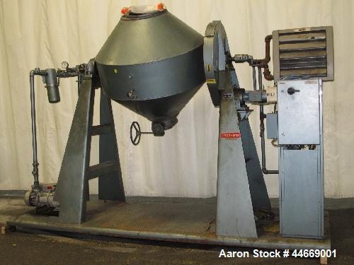 Used-Paul O Abbe Vacuum Dryer, Model RCVD-48, Carbon Steel. Working Volume:  21 cubic feet (total vcolume 32 cubic feet.) Ja...
