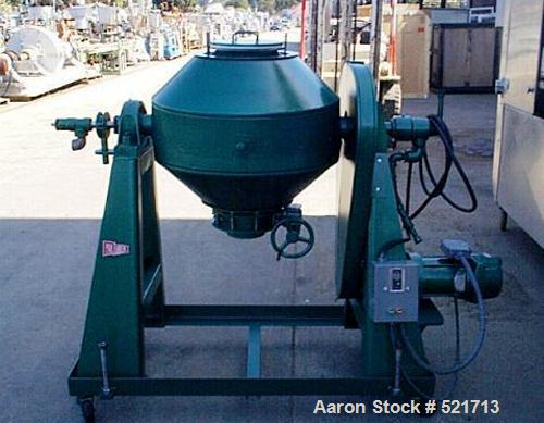 USED: Paul O Abbe conical dryer, RCVD-24. Approximately 3 cu ft, stainless steel contact parts, carbon steel outer shell, ja...