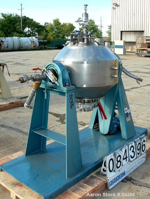 USED: Paul O Abbe Rota-Cone vacuum dryer, model RCVD-24. 2.6 cu ft working, 3.9 cu ft total capacity based on 65% total volu...