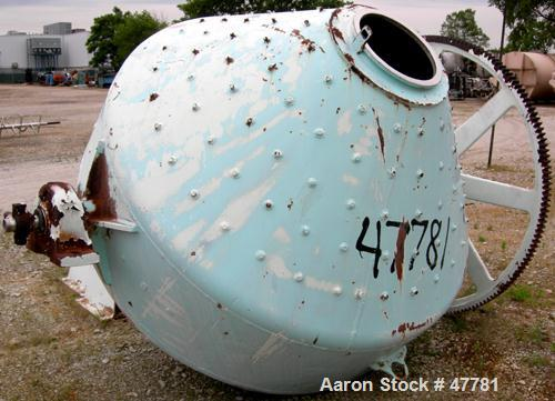 """USED - Abbe Rota-Cone Vacuum Dryer, 90 Cubic Foot Working Capacity, 316 Stainless Steel, Jacketed.  78"""" diameter x 20"""" strai..."""