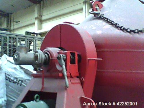 Used-Pfaudler Double Cone Glass Lined Vacuum Dryer, total capacity 40.96 cubic feet (1160 liters), working capacity 35.31 cu...