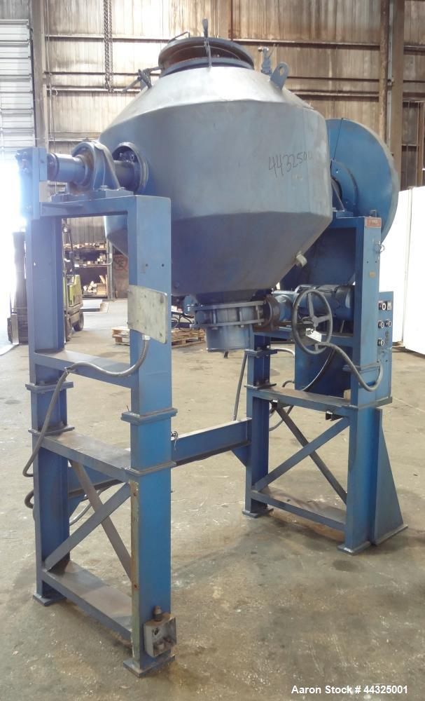 Used- Stainless Steel Stokes Conical Vacuum Dryer, Model 159-202