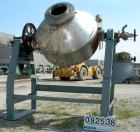 USED: Gemco double cone vacuum dryer, approximately 60 cubic foot working capacity, 304 stainless steel. Internal rated F/V ...