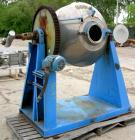 USED- Patterson Industries Double Cone Vacuum Dryer, 8.7 Cubic Feet Working Capacity, 12.4 Total. 316 stainless steel. Inter...