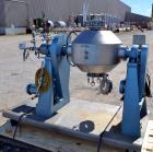 Used- Paul O. Abbe Rota-Cone Vacuum Dryer, Model RCVD18, Hastelloy C276. 1.28 Cubic feet working capacity (1.97 total). 180 ...