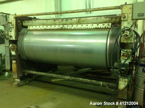 "Used-42"" x 90"" Buflovak Double Drum Dryer.  Cast and ribbed drums that are chrome plated. Drums are rated 160 PSI @ 450 deg ..."