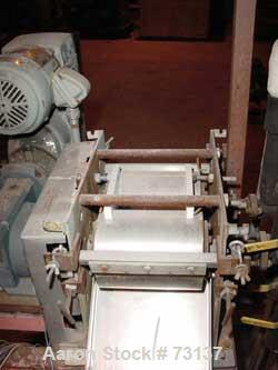 """USED: Double drum dryer, lab size. (2) 6"""" diameter x 7-3/4"""" widechrome plated cored rolls. Adjustable doctor blades, teflon ..."""