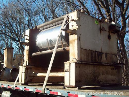 "Used-Buflovac Double Drum Dryer. 32"" diameter x 52"" face, drums rated 160 psi, ASME code. Previously used on a food product."