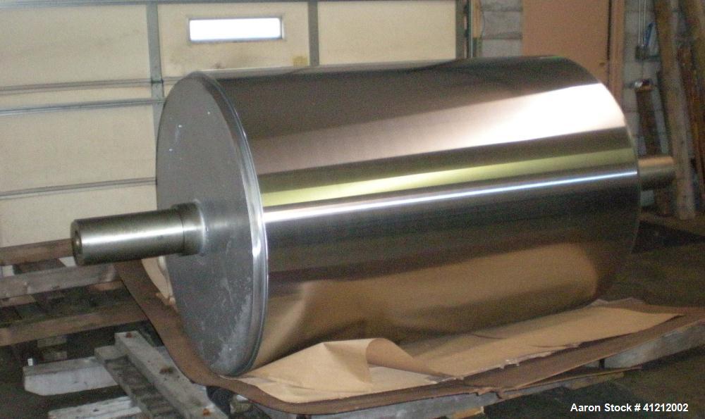 "Rebuilt ""Unused"" Buflovak Single Drum Flaker, 48"" diameter x 66"" wide with chrome roll, carbon steel feed pan. Flaker was re..."
