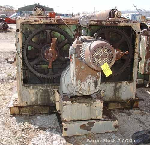 """Used- Buflovak Double Drum Dryer, 42"""" diameter x 144"""" face, cored chrome plated carbon steel rolls, rated approximately 160 ..."""