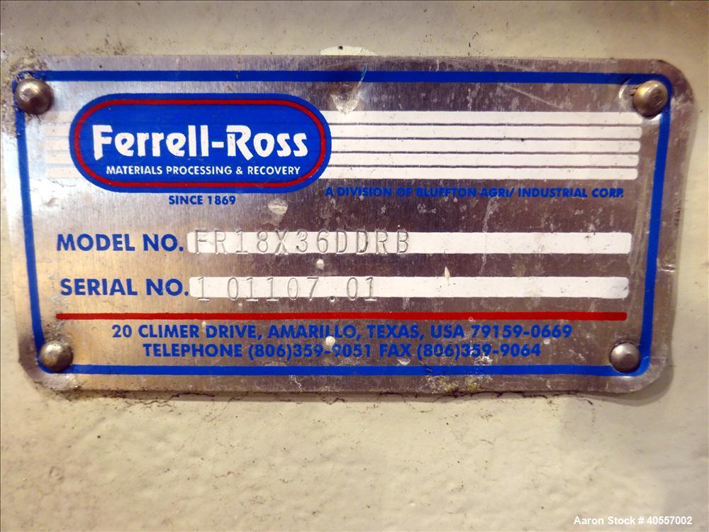 Used- Ferrell-Ross Horizontal Double Drum Flaker