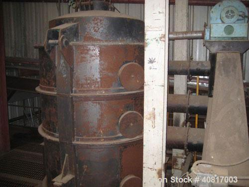 """Used-MEC Rotary Drum Dryer, 10 x 40, single pass dryer with reducer, no motor, 30"""" discharge duct, 54"""" inlet duct. 15 mm btu..."""