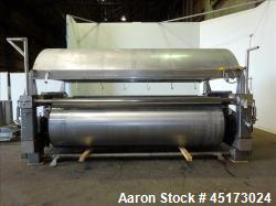 Used- GL&V Drum Dryer, Chrome Plate Carbon Steel.