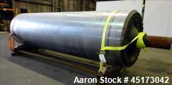 Used- GL&V Drum Dryer Chrome Rolls, Chrome Plated Carbon Steel.