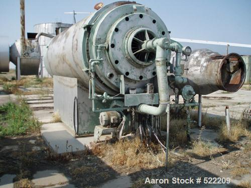 "USED: Stern Roger rotary drum dryer system consisting of a Stern Roger10'6"" diameter x 60' long single pass rotary drum drye..."