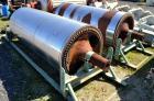 Used- (1) Set of Beloit Double Drum Dryer Rolls, Carbon Steel. Approximate 60 diameter x 144