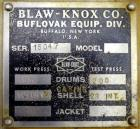 Blaw Knox vacuum double drum dryer
