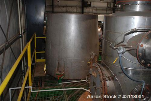 Used-Anhydro / APV Spin Flash Dryer, Model SFD-59, stainless steel. Chamber diameter 800 mm, feed vat diameter 1600 mm x 150...