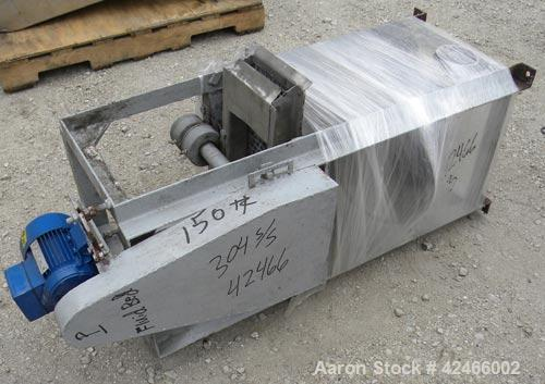 """Used-OZSM Fluid bed dryer, model SF31/F. 304 Stainless steel slotted bed 36"""" wide x 130"""" long. Aluminum, carbon steel housin..."""