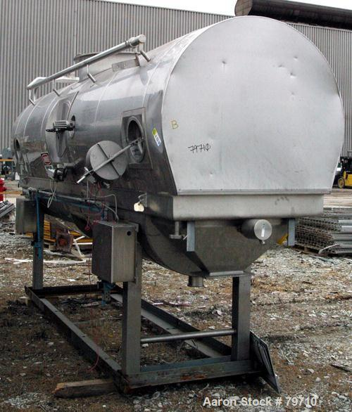Used- Stainless Steel APV Continuous Fluid Bed Dryer, Model FBTS2