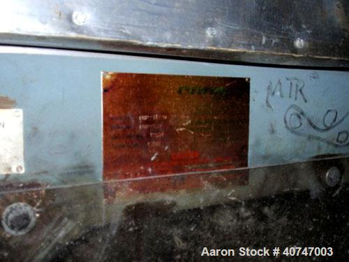 """Used- Carman Industries Vibrating Fluid Bed Dryer, model FBP-562, stainless steel contact surfaces, 45.5"""" wide x 230"""" long w..."""