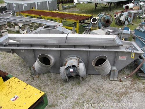 Used- Carrier Vibratory Continuous Fluid Bed Dryer, Model OAC-2433