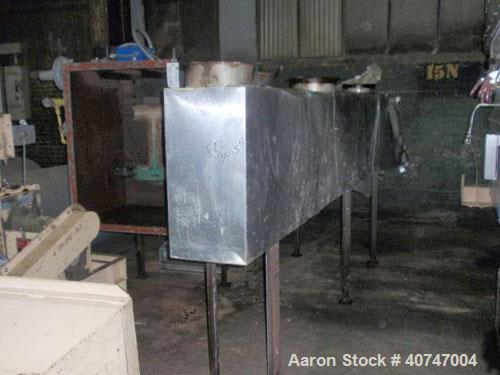 "Used- Carrier Fluid Bed Dryer/Cooler, model OAD/C-3-246D, stainless steel contact surfaces, 22"" wide x 268"" long with 246"" l..."