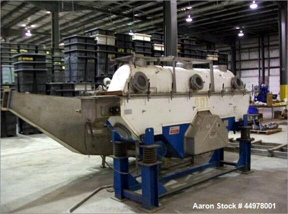 Used- Stainless Steel Carrier Fluid Bed Dryer, Model OAD31260S