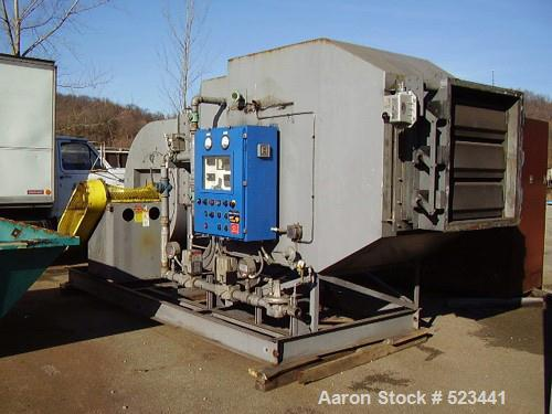 "USED: Carrier vibrating fluidized bed dryer, model QAD 72120S, 5'6"" wide x 29'4"" long, stainless steel."