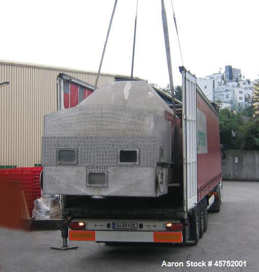 "Used- Funk Fluid Bed Dryer. Stainless steel on product contact parts. Drying surface 87.7"" x 393.7"" (2m x 10m). (4) Rakes. (..."