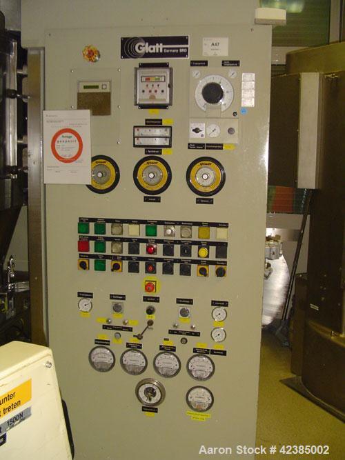 Used-Glatt Spray Granulator Line comprised of:  (1) WSG 120, 29 psi (2 bar) impact resistant design; (1) lifting and emptyin...