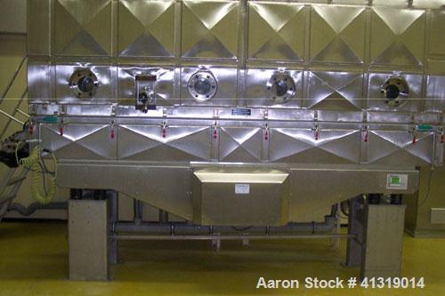 Used-Heinen Fluid Bed Dryer, model WT 3/40 LS-4, stainless steel. Heating agent is hot water 194 deg/158 deg F (90 deg/70 de...