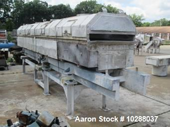 Used- Jeffrey Fluid Bed Dryer, Model TMV