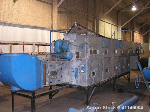 Used- Jet-Pro Industrial Continuous Flow Multi-Purpose Fluid Bed Dryer, Model 936M, 304 Stainless Steel ( product contact ar...