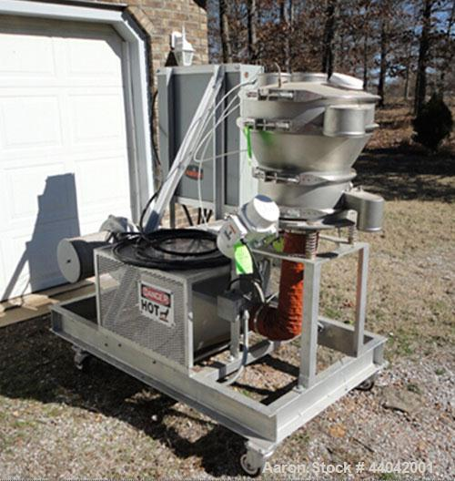 """Used-Kason Skid Mounted Fluid Bed Dryer, Model K18/24-1FBD-SS.  Stainless steel, 18"""" diameter, with screen.  Constructed of ..."""