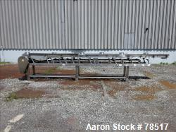 "Used- Frank Hamachek Machine Company Vibratory Fluid Bed Dryer, Stainless Steel. 16"" wide x 259"" long 3 zone bed, (6) 8"" top..."