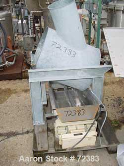 """USED: Schugi continuous insulated fluid bed dryer. 16"""" wide x 10' long. Stainless steel-galvanized aluminum exterior. Includ..."""