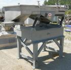 Used: Witte vibrating continuous fluid bed dryer, 304 stainless steel. Approximately 30