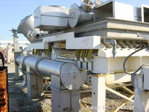 Used- Vibranetics Vibratory Fluid Bed Cooler, Model VCS. 304 stainless steel bottom jacketed and insulated trough, 6' wide x...