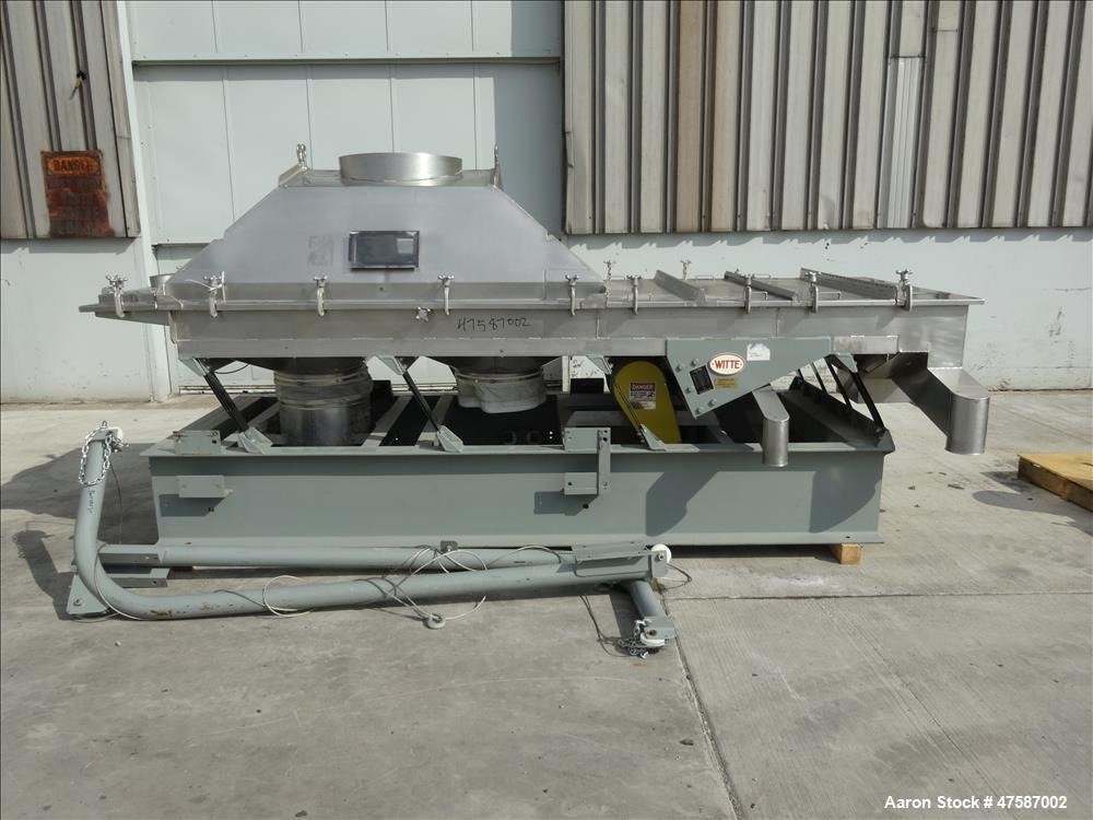 Used- Witte Continuous Vibrating Fluid Bed Dryer Cooler Classifier