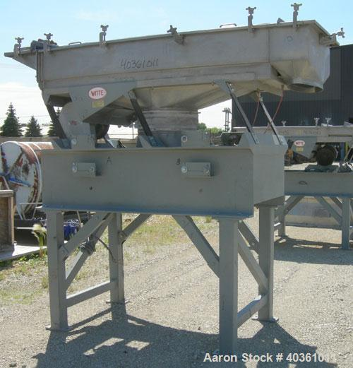 "Used: Witte vibrating continuous fluid bed dryer, 304 stainless steel. Approximately 30"" wide x 72"" long bed. Approximately ..."