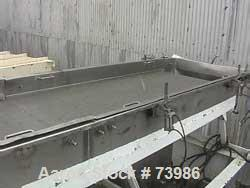 "USED: Witte 36"" x 18' long stainless steel vibratory fluid bed dryer. 3 zone heat. Stainless steel screen. 3 hp 230/460V/175..."