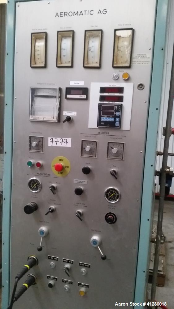 Used- Stainless Steel Aeromatic Fluid Bed Dryer/Granulator, Model S-2