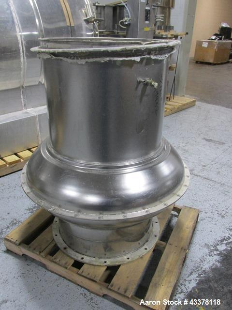 Used- Aeromatic Fluid Bed Dryer, Model S-8/1. Stainless steel product contact surfaces, rated 2 bar internal shock rating, w...