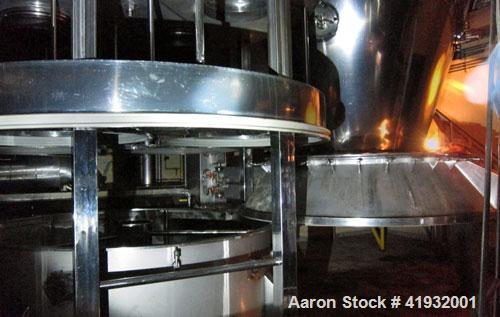 Used-Aeromatic Fluid Bed Dryer/Spray Granulator, type S10, stainless steel. 2,400 lb/hour capacity. Dryer body is approximat...